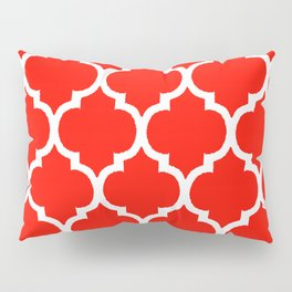 MOROCCAN RED AND WHITE PATTERN Pillow Sham