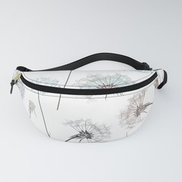 Hand drawn vector dandelions in rustic style Fanny Pack