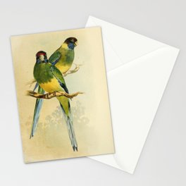 Port Lincoln Lory Yellow Collared Parrakeet4 Stationery Cards
