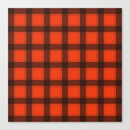 Classic Red Plaid Canvas Print
