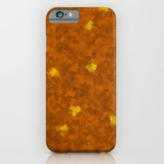 small yellow squares superimposed on a brown pattern   iPhone 6s Slim Case