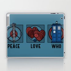 Peace, Love, Who Laptop & iPad Skin
