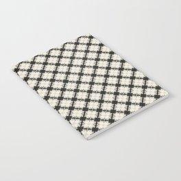 white&black flower pattern Notebook