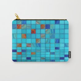 Blue And Red Geometrical Art - Block Party 1 - Sharon Cummings Carry-All Pouch