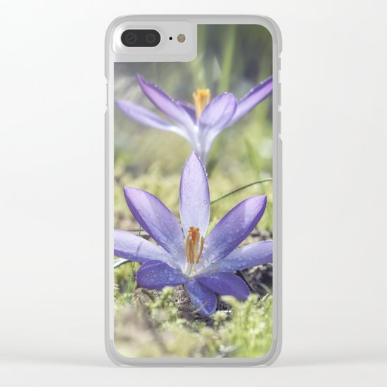 Queen and King - Crocus in a meadow - Spring Clear iPhone Case