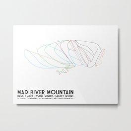 Mad River Mountain, OH - Minimalist Trail Art Metal Print
