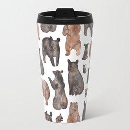 Woodland Bear Pattern Travel Mug