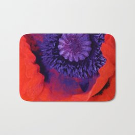 Super Macro Poppy Bath Mat