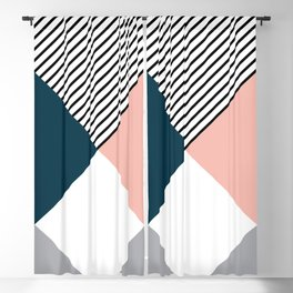 Rhombus, triangles and stripes Blackout Curtain