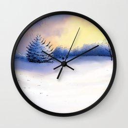 Landscape blanc sur blanc Wall Clock