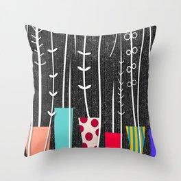 Wild Plants Throw Pillow