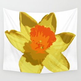 Spring Daffodil Vector Isolated Wall Tapestry