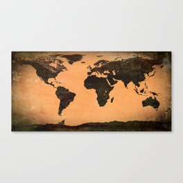 Abstract Earth Science Map Canvas Print