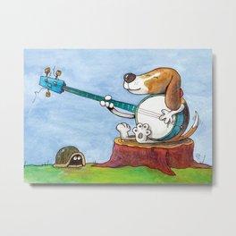 Banjo Practice Metal Print
