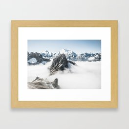 With My Head Above The Clouds Framed Art Print