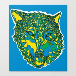 color your wolf Canvas Print