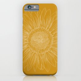 Sunflower - Golden yellow iPhone Case