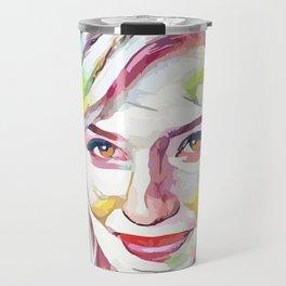 Dianna Agron (Creative Illustration Art) Travel Mug