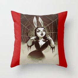 Vampirabbit Throw Pillow