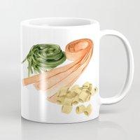 pasta Mugs featuring Fresh Pasta by Helen Krayenhoff