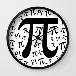 The Pi symbol mathematical constant irrational number, greek letter, background Wall Clock
