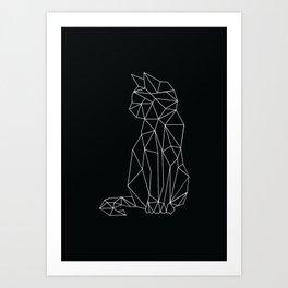 Minimal Cat  Art Print