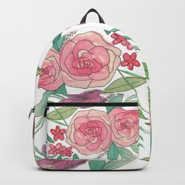 Glossy Flowers Backpack