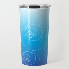 Blue Fibonacci Circles Travel Mug