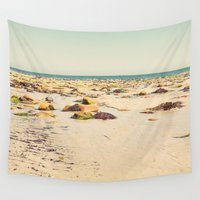 rocky Wall Tapestries featuring Rocky Beach by Cassia Beck