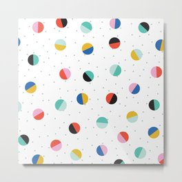 Color Block Dots Metal Print
