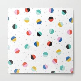 Color Block Dots Metal Print