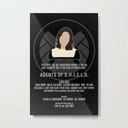 Agents of S.H.I.E.L.D. - Simmons Metal Print