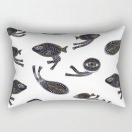 underwater surreal creatures Rectangular Pillow