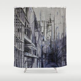 Invisible city Shower Curtain