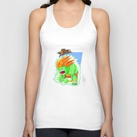 street fighter Tank Tops featuring STREET FIGHTER - BLANCA by mirojunior