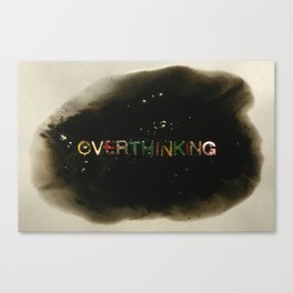 drowning in thoughts - Canvas Print