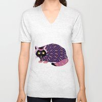 Abstract Cat [BLACK] Unisex V-Neck