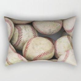 Many Baseballs - Background pattern Sports Illustration Rectangular Pillow
