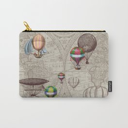 Balloon Festival Brown Carry-All Pouch