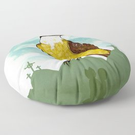 Bichofue cali // great kiskadee colombia Floor Pillow