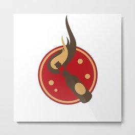 Molotov Cocktail Metal Print