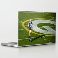 nfl Laptop & iPad Skins featuring NFL MVP Aaron Rodgers by David Konieczko