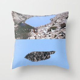 Cave, reverse cave. Throw Pillow