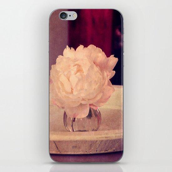 white peony II iPhone & iPod Skin