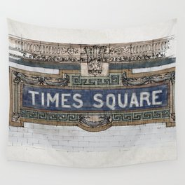 Times Square Subway New York, Tile Mosaic Sign Wall Tapestry