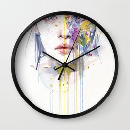 miss bow tie Wall Clock