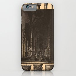 Iconographic Encyclopedia of Science, Literature and Art (1851) - Middle Age Gothic Churches 1 iPhone Case