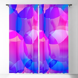 Violet and blue soap bubbles. Blackout Curtain
