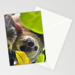 AnimalPaint_Sloth_20171201_by_JAMColors Stationery Cards