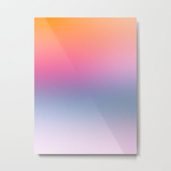 Rainbow Blush Metal Print
